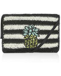 Topshop Straw Pineapple Clutch - Lyst