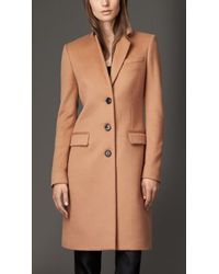 Burberry Wool Cashmere Coat - Lyst