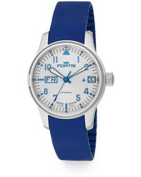 Fortis - F43 Stainless Steel & Silicone Strap Watch - Lyst