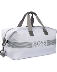 BOSS Green - Weekender With Logo Lettering: 'pixel_holdall' - Lyst
