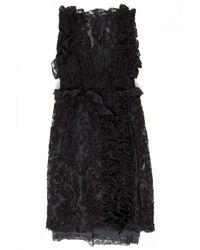 Simone Rocha Chenille Embroidery Dress black - Lyst