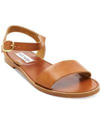 Steve Madden Donddi Flat Sandals - Lyst
