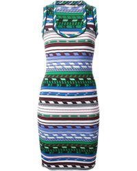 Christopher Kane Geometric Knit Fitted Dress - Lyst
