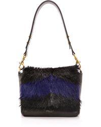 Deadly Ponies - Mr. Nebula Fur Messenger Bag - Cobalt - Lyst