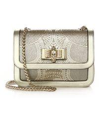 edc00ef5e9b Sweet Charity Small Metallic Laser-cut Leather Shoulder Bag