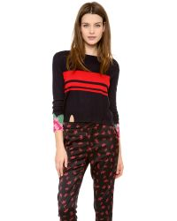 Band of Outsiders - Cashmere Intarsia Crew Neck Sweater - Lyst