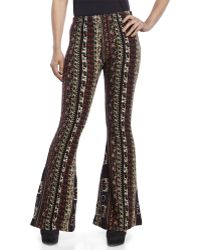 ANAMÁ - AnamだPrinted Knit Flare Pants - Lyst