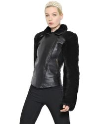 Gareth Pugh Shearling & Nappa Leather Jacket - Lyst