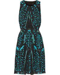 Proenza Schouler Printed Silk-Crepe Dress - Lyst