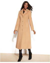 Anne Klein Petite Wool Cashmere Blend Maxi Walker Coat - Lyst