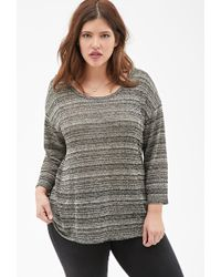 Forever 21 Marled Knit Top - Lyst