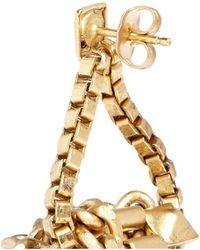 Ela Stone - 'patti' Knot Box Chain Drop Earrings - Lyst
