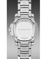 Burberry Brit | The Britain Bby1801 34mm Diamond Bezel | Lyst