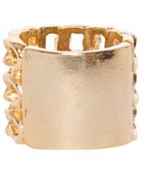 Pixie Market Missy Gold Chain Link Ring - Lyst