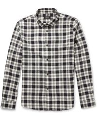 A.P.C. Cotton and Silkblend Flannel Shirt - Lyst