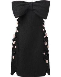 Giambattista Valli Strapless Bow Dress - Lyst