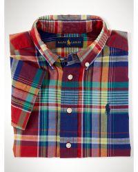 Ralph Lauren Cotton Madras Shirt - Lyst