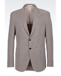 Armani Jacket In Soft Ottoman - Lyst