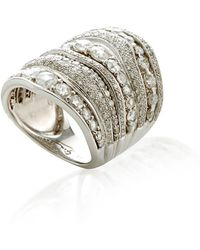 Gioia - Rosecut/brilliant Cuts Diamond Stacked Ring - Lyst
