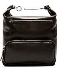 Marni Black Leather Buckle Backpack - Lyst