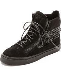 Giuseppe Zanotti Embelllished Sneakers  Black - Lyst