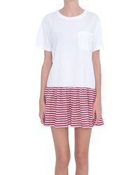 RED Valentino Cotton And Silk Dress - Lyst