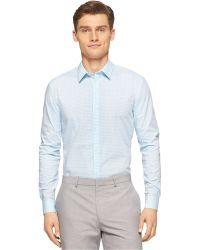 Calvin Klein Shadow Check Shirt - Lyst