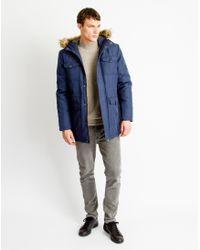 Only & Sons   Mens Parka Coat Blue   Lyst