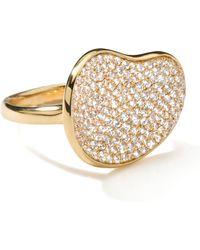 Ippolita - Stardust Gold Diamond Bean Ring - Lyst
