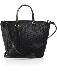 Gucci Bree Ssima Leather Tophandle Bag - Lyst