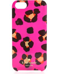 Kate Spade Cyber Cheetah Iphone 5 5s Case  - Lyst