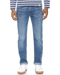 7 For All Mankind Slimmy Slim Straight Luxe Performance Jeans - Lyst