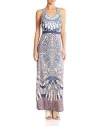 BCBGMAXAZRIA Adriene Printed Maxi Dress - Lyst