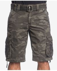 Affliction - Men's Raided Camouflage Cargo Shorts - Lyst