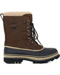 Sorel Caribou Suede and Rubber Boots - Lyst