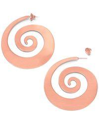 Tory Burch Beatrix Spiral Earring - Lyst