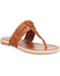 Frye Women'S Cleo Concho Thong Sandals brown - Lyst
