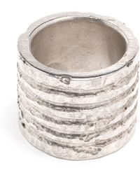 Parts Of Four Silver Plane Engraved Ring - Lyst