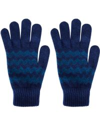 Howlin' By Morrison - Blue Zion Chevron Knit Lambswool Gloves - Lyst