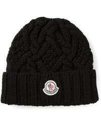Moncler Cable Knit Beanie - Lyst