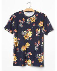 Gap Lived-In Floral Pocket T-Shirt blue - Lyst