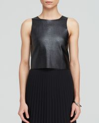 Charlie Jade Top - Croc Embossed Faux Leather Sleeveless - Lyst