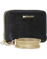 Elizabeth and James - Black Calf Hair Wristlet Wallet - Lyst