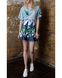 Isolda Dama Noite Mini Frilled Skirt - Lyst