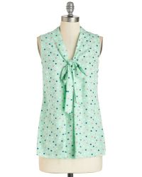 Poema South Florida Spree Top In Mint Dots green - Lyst