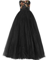 Notte By Marchesa Embellished Tulle Gown - Lyst