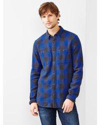 Gap Heavyweight Buffalo Plaid Shirt - Lyst