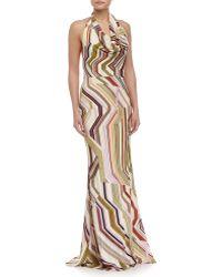 Carolina Herrera Geometric-Print Mermaid Gown multicolor - Lyst