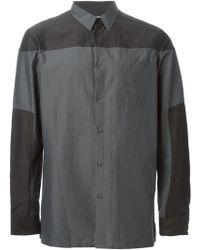 Helmut Lang Colour Block Shirt - Lyst
