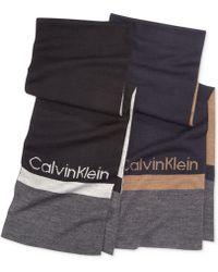 Calvin Klein Modernist Logo Muffler Scarf - Lyst